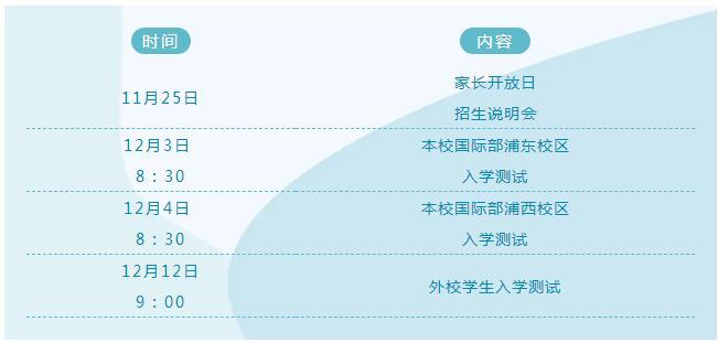 2021级上海市实验学校国际部招生工作启动啦!